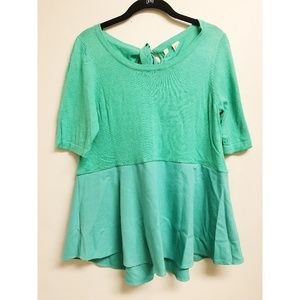Anthropologie x Moth Green Blouse